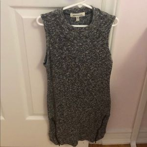 Salt and pepper high neck tunic - size M